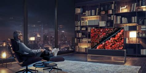 LG introduces OLED TV that rolls up and disappears when