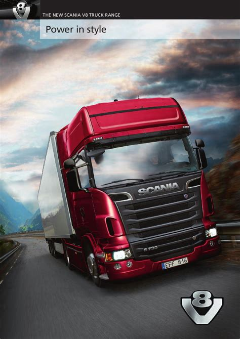 Scania V8 truck range by Scania (Great Britain) Limited