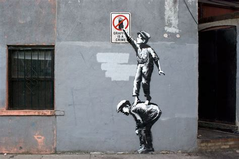 """Banksy – New """"Graffiti Is A Crime"""" Piece in New York City"""