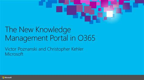 The New Knowledge Management Portal in Office 365