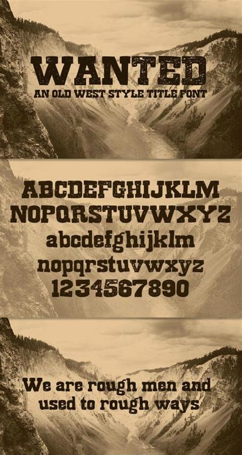 Wanted - A Old West Style Title Font - Befonts