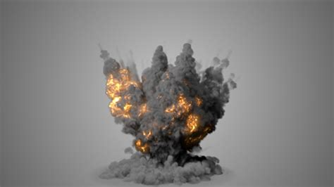 Realistic Explosion With Puffy Smoke by ivan-drago   VideoHive
