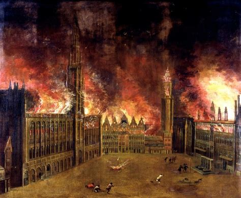 The bombing of the Grand-Place in 1695 - Brussels City Museum