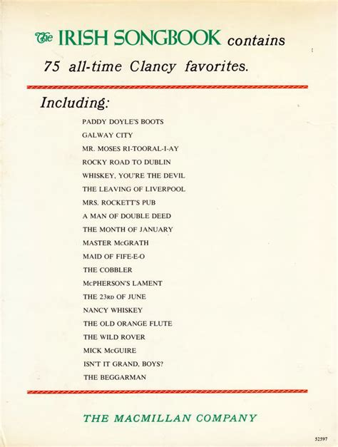 The Irish Songbook - 1969: the Clancy Brothers and Tommy Makem