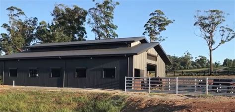 Our unique stable built for our horses at Silverdale
