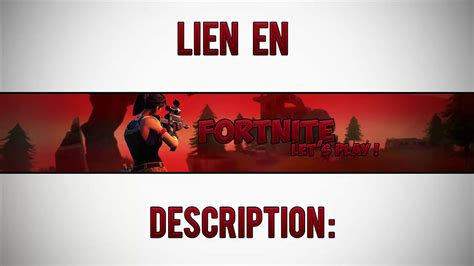 Bannière FortNite Template + DOWNLOAD - YouTube