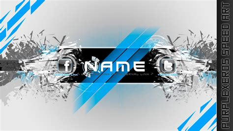 Free-To-Use Channel Art Template - Elegant Shatter - YouTube