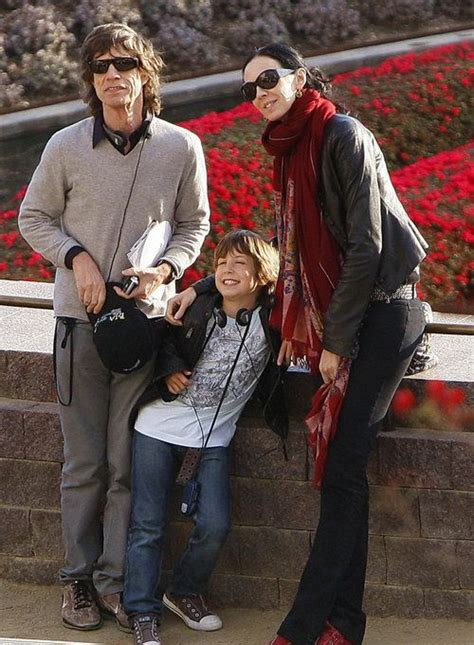 ,Lucas Maurice Morad Jagger with his parents