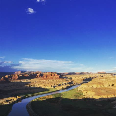 Sun setting on the Colorado River in Glen Canyon National