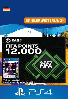 FIFA 21 ULTIMATE TEAM - 12000 Points - PS4 Code (Game