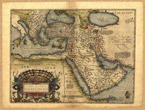 Map Of The Middle East From The 1500s Persia Saudi Arabia