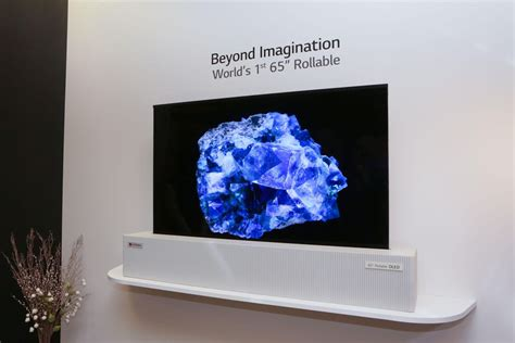 LG Display's crazy 65-inch OLED TV can roll up like a