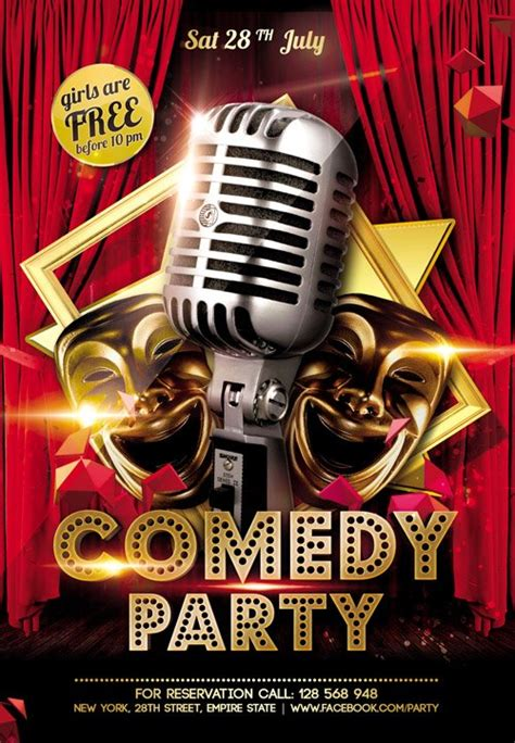Flyer Template - Comedy Party FB Cover » NitroGFX