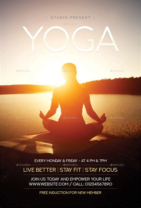 25+ Yoga Flyer Designs & Examples – PSD, AI, Word, EPS