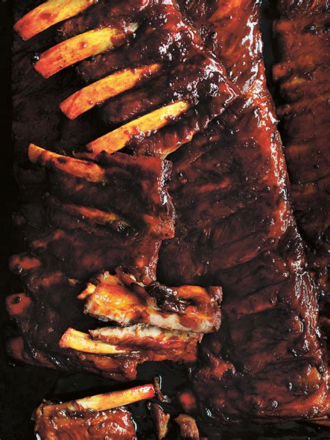 Sticky Maple And Bourbon Pork Ribs | Donna Hay