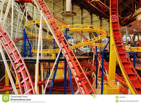 Roller Coaster Tracks In West Edmonton Mall Royalty Free