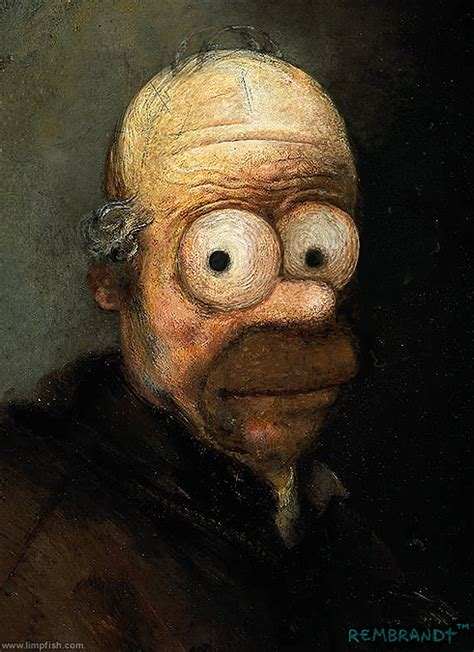 Famous Paintings Updated With 'The Simpsons', 'Star Wars