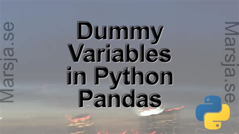 How to use Pandas get_dummies to Create Dummy Variables in