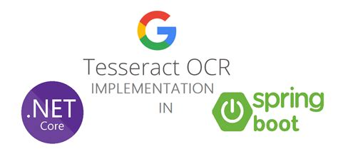 Tesseract OCR implementation in