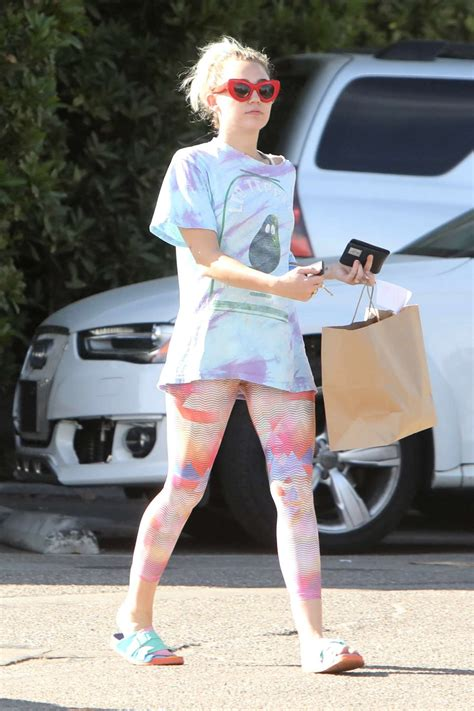 Miley Cyrus in Tights out in Malibu | GotCeleb