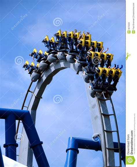 Roller Coaster In Loop Royalty Free Stock Images - Image