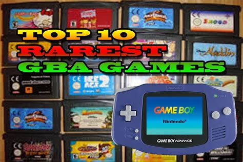 Top 10 Rarest Gameboy Advance Games   Most Expensive GBA