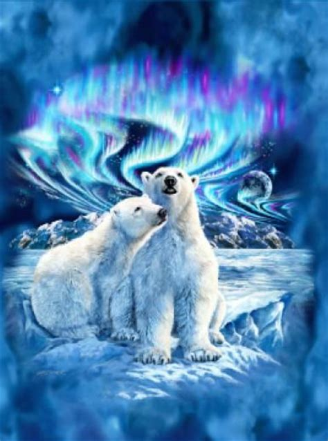 Northern Lights Polar Bear Blanket, this is on my