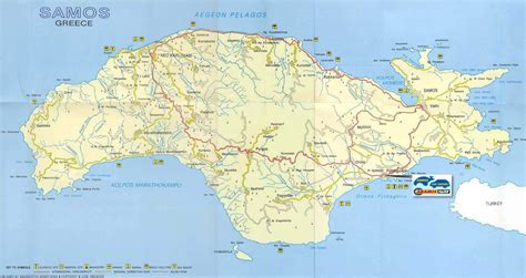 Large Samos Maps for Free Download and Print   High