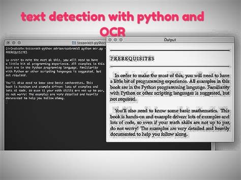 Create tesseract ocr text detection scripts using python
