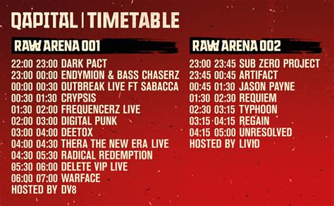 This is the timetable of QAPITAL 2016 || Hard News