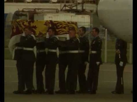 Princess Diana's coffin arriving in England - YouTube