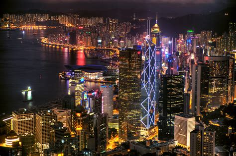 Just another night scene of Hong Kong   Is either I don't